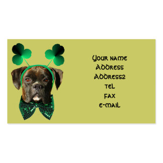 St Patrick s day boxer business cards