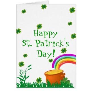 St. Patrick's Day Clover Golden Pot  Card