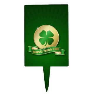 St. Patrick´s Day Coin - Cake Topper Rectangle