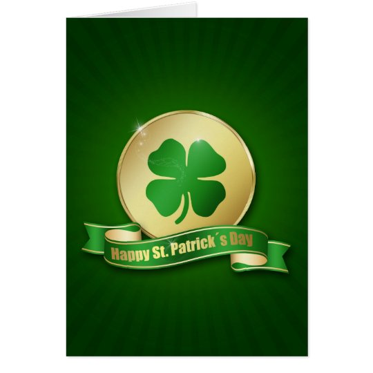St. Patrick´s Day Coin - Greeting Card