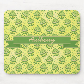 St Patrick's Day Cupcake Pattern and Ribbon Mouse Pad