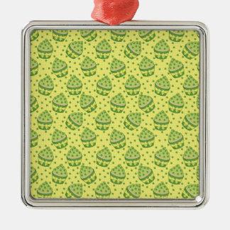 St Patrick's Day Cupcake Pattern Ornament