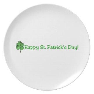 St. Patrick's Day - Go Irish! Dinner Plate