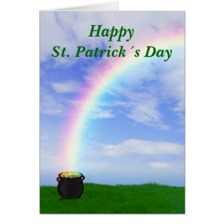 St. Patrick´s Day Gold Pot - Greeting Card