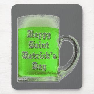 St. Patrick's Day Green Beer Mug Mousepad