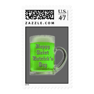 St. Patrick's Day Green Beer Postage