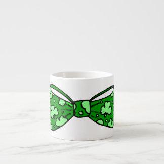St. Patrick's Day Green Bow Tie Espresso Mug