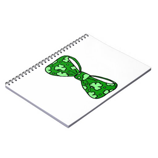 St. Patrick's Day Green Bow Tie Notebook