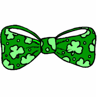 St. Patrick's Day Green Bow Tie Photo Sculpture