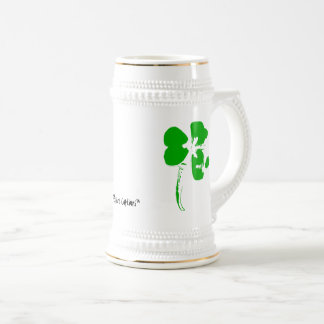 St. Patrick's Day Green Clover - Beer Cup