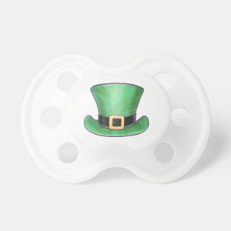St Patrick's Day Green Top Hat Pacifier
