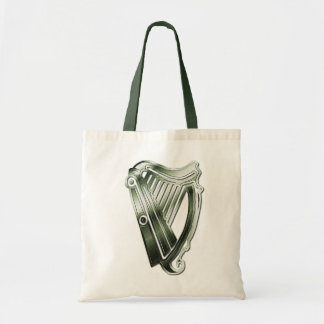 St Patrick s Day Harp of Ireland Tote Bag