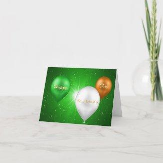 St. Patrick´s Day Irish Balloons - Greeting Card