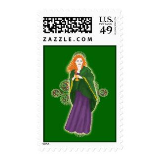 St. Patrick's Day Irish Grail Maiden Stamp