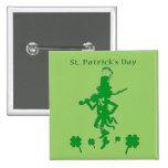 St. Patrick's Day Leprechaun Button