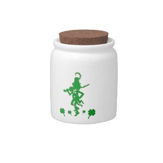St. Patrick's Day Leprechaun Shamrock  Candy Jar
