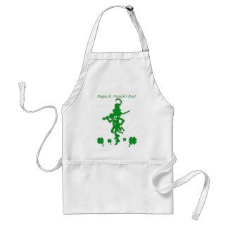 St. Patrick's Day Leprechaun Shamrock Clover Apron