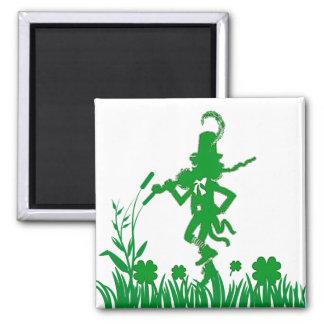St. Patrick's Day Leprechaun Shamrock  Magnet