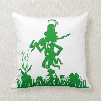 St. Patrick's Day Leprechaun Shamrock  Pillow