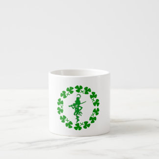 St. Patrick's Day Leprechaun Shamrock Ring  Espres Espresso Cup