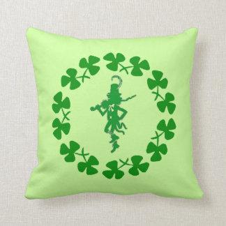St. Patrick's Day Leprechaun Shamrock Ring Pillow