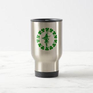 St. Patrick's Day Leprechaun Shamrock Ring Travel  Travel Mug