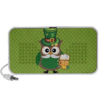 St. Patrick's Day Owl Laptop Speaker