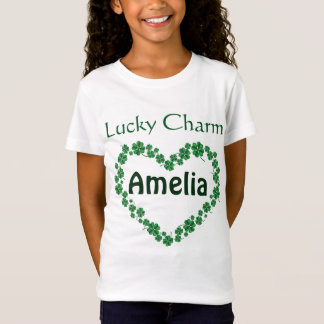 St. Patrick's Day Personalized name Lucky Charm T-Shirt