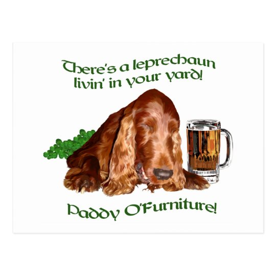 St Patrick's Day Postcard