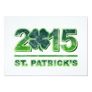 St. Patrick's Day Shamrock 2015 Invitation