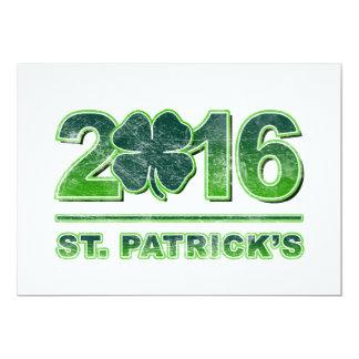 St. Patrick's Day Shamrock 2016 Invitation