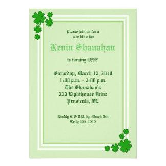 St Patrick s Day Shamrock Birthday Invitation 5x7