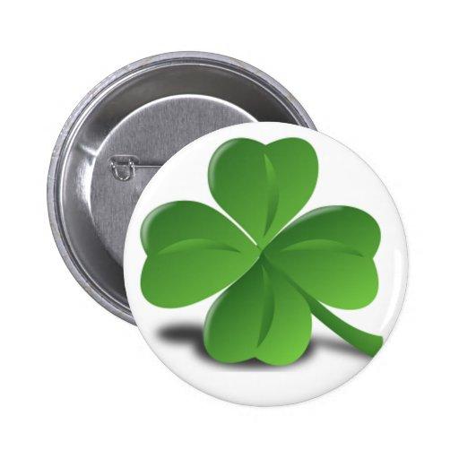 St. Patrick's Day Shamrock Clover Button
