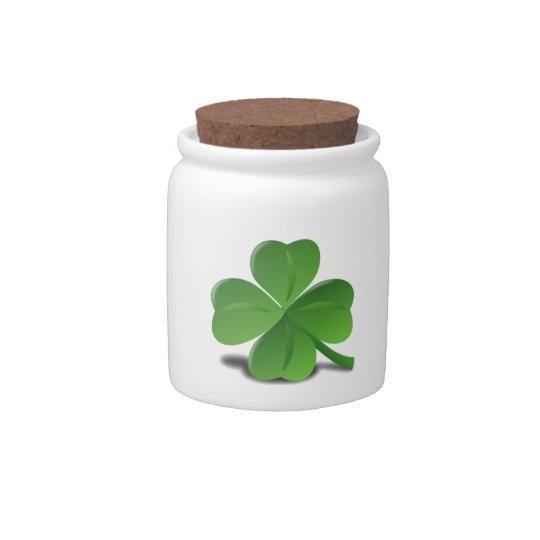 St. Patrick's Day Shamrock Clover Candy Jar