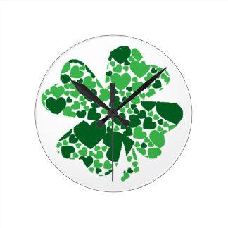 St. Patrick's Day Shamrock Clover Clock