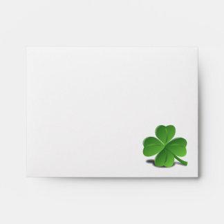 St. Patrick's Day Shamrock Clover Envelope