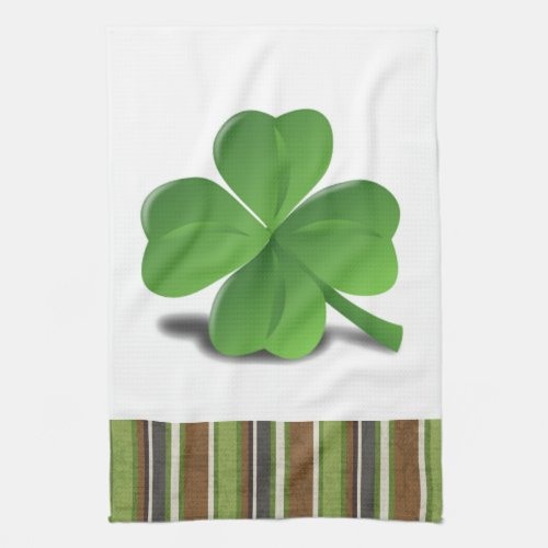 St. Patrick's Day Shamrock Clover Kitchen Towel