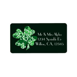 St. Patrick's Day Shamrock Clover Label