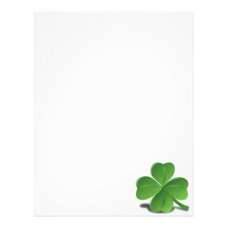 St. Patrick's Day Shamrock Clover Letterhead