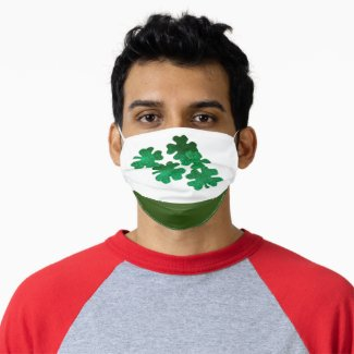 St. Patrick's Day Shamrock Clover Lucky you Adult Cloth Face Mask