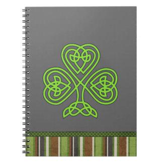 St. Patrick's Day  Shamrock Clover Notebook