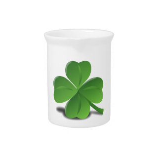 St. Patrick's Day Shamrock Clover Pitcher