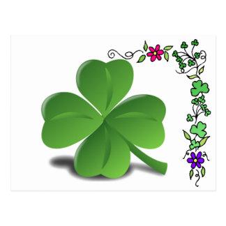 St. Patrick's Day Shamrock Clover Postcard