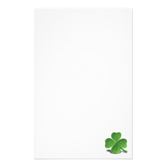 St. Patrick's Day Shamrock Clover Stationery