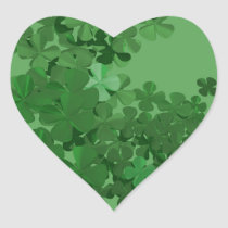 St. Patrick's Day Shamrock Heart Sticker