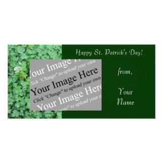 St Patrick s Day Shamrock Photo Card Template