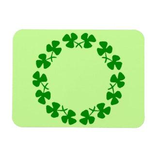 St. Patrick's Day Shamrock Ring Flexible Magnet
