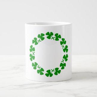 St. Patrick's Day Shamrock Ring Jumbo Mug