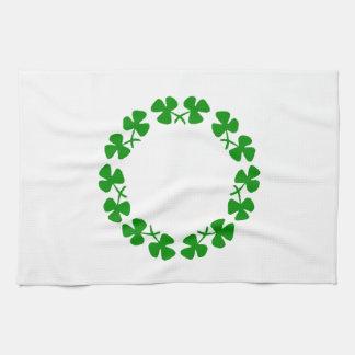 St. Patrick's Day Shamrock Ring Kitchen Towel