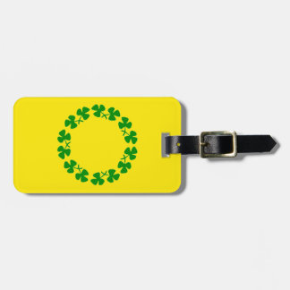 St. Patrick's Day Shamrock Ring Luggage Tag